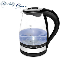 Healthy Choice Cordless 1.7L Luminous Glass Kettle