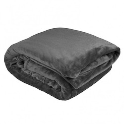 Charcoal Ultraplush Blanket by Bambury